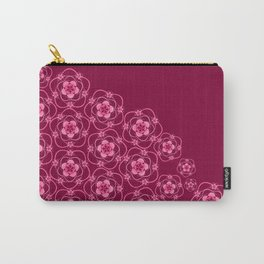 Pink Lace Flowers Carry-All Pouch