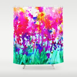 A Walk Among The Flowers 1i by Kathy Morton Stanion Shower Curtain