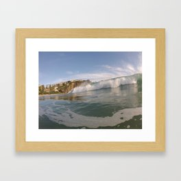 Wave Bombs Framed Art Print