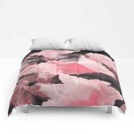 Light Pink Snapdragons Abstract Flowers Comforters