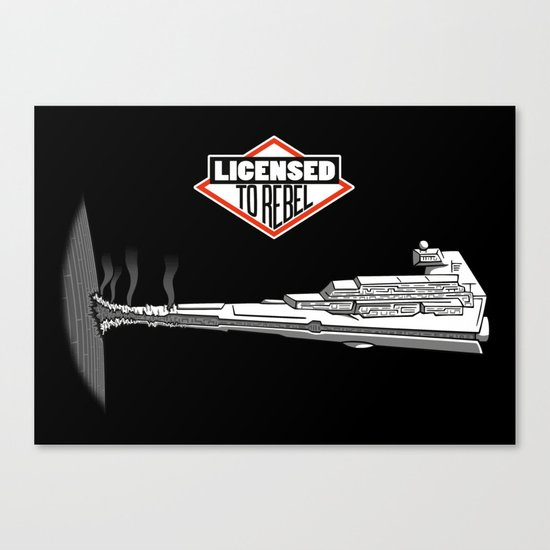 Licensed to Rebel Canvas Print