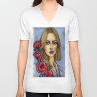 "les miserables V-neck T-shirts featuring ""Les Miserables"" by musentango87"