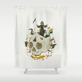 Thanatophobia Shower Curtain