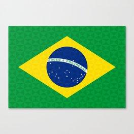 Brazilian Geometric Graphic Flag Canvas Print