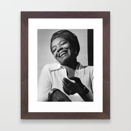 Maya Angelou - Black Culture - Black History Framed Art Print