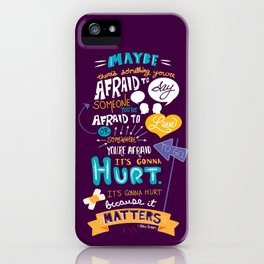 """""""Maybe there's something..."""" iPhone Case"""