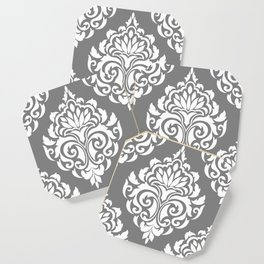Grey Damask Coaster