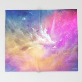 Galactic waves Throw Blanket