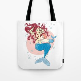 Sirène allaitante (mermaid breastfeed) Tote Bag