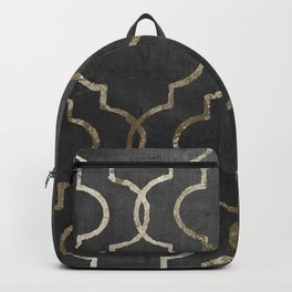 Paris Apartment Black Backpack