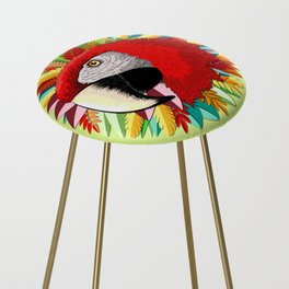 Macaw Parrot Paper Craft Digital Art Counter Stool