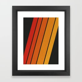 Retro 70s Stripes Framed Art Print
