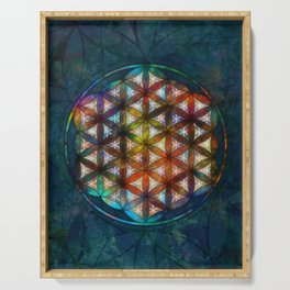 The Flower of Life Symbol Serving Tray