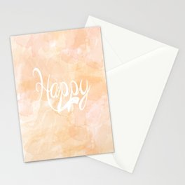 Watercolor Happy Stationery Cards
