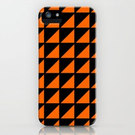 orange triangle iPhone Case