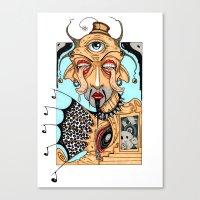 polka Canvas Prints featuring Polka by Barnsey