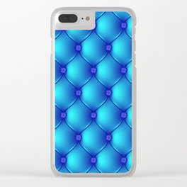 Blue Upholstery Pattern Clear iPhone Case