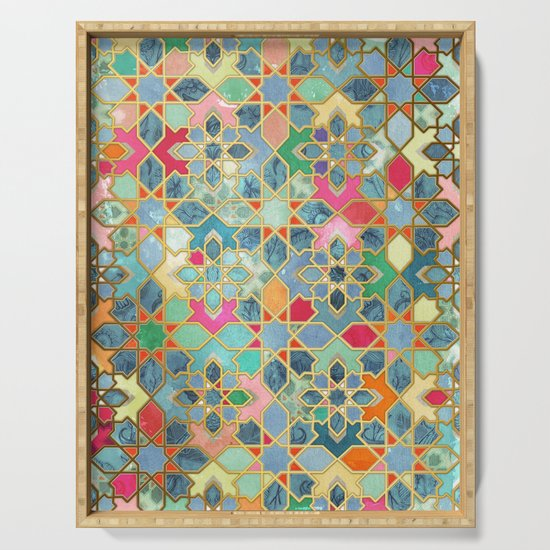 Gilt & Glory - Colorful Moroccan Mosaic by micklyn