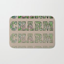 Charming - Tan & Green Bath Mat