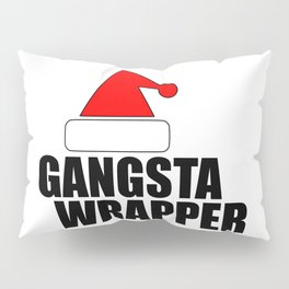 funny Xmas wrapper Santa hat Pillow Sham