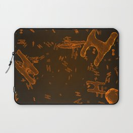 Abstract orange virus cells Laptop Sleeve