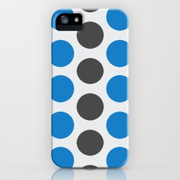 RINGS (DOTS) Blue / Grey iPhone Case