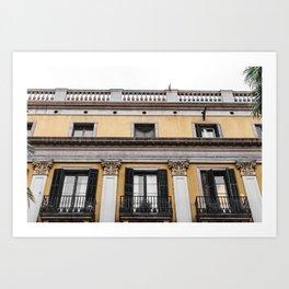 Royal Plaza Barcelona Art Print
