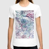 portland T-shirts featuring Portland map by MapMapMaps.Watercolors