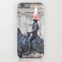 Scottish Photography Series (Vectorized) - Duke of Wellington Statue Glasgow #2 iPhone Case