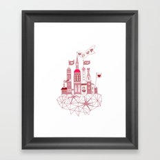 transparent city of love Framed Art Print