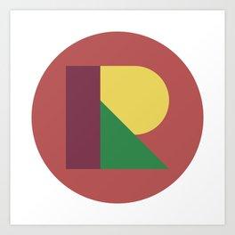 R BALL Art Print