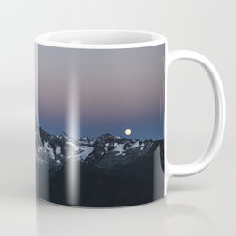 Full Moon over the North Cascade Mountains in the Pacific Northwest, Washington Coffee Mug