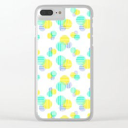 Spheres and Plaid - Yellow Clear iPhone Case