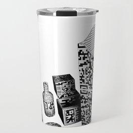 Black and White Everyday Life Internet of Things Travel Mug