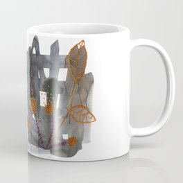 Embroidered flowers Coffee Mug