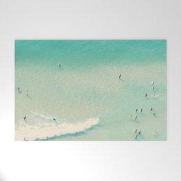 beach summer waves Welcome Mat