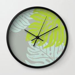 Hawaiian leaves pattern N0 1, Art Print collection, illustration Wall Clock