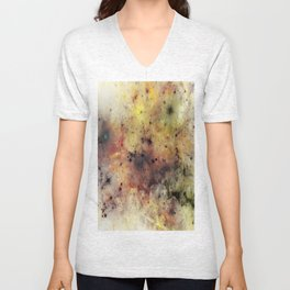 Into The Unknown - Abstract, rustic space style painting Unisex V-Neck