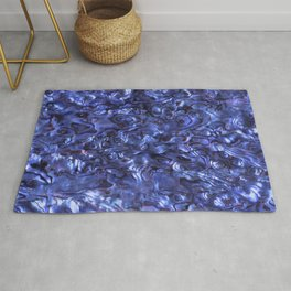 Abalone Shell | Paua Shell | Sea Shells | Patterns in Nature | Dark Blue Tint | Rug