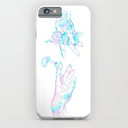 the creation of weed- holographic iPhone Case