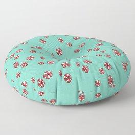 Peppermint Candy in Aqua Floor Pillow