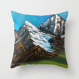 Big Mountains Throw Pillow