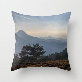 Blue dreams III. Misty mountains Throw Pillow