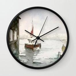 Fishing in Istanbul Wall Clock