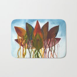 Dripping Lotus Flower Bath Mat
