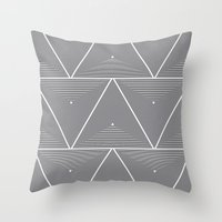 origami Throw Pillows featuring Origami by Leandro Pita