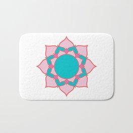 mandala pink/blue Bath Mat