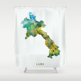 Laos Shower Curtain