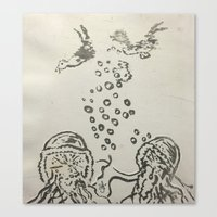 under the sea Canvas Prints featuring Under The Sea Sketch by ANoelleJay