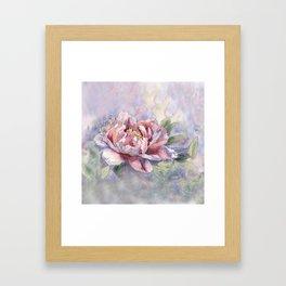 Pink Peonies Watercolor Flowers Peony Painting Floral art print Framed Art Print